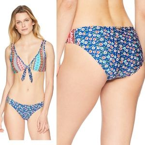 LAUNDRY BY SHELLI SEGAL FLORAL SWIMMING BIKINI